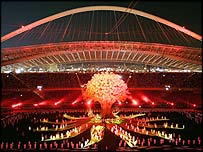 The Athens Paralympics opening ceremony
