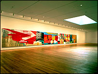 6th Floor gallery with F-111 (1964-65) by James Rosenquist. Photo © 2004 Timothy Hursley