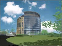 Artist's impression of the new tower