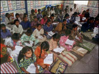 Indian children in school, BBC