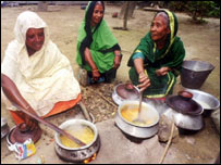 Indian women cooking, BBC