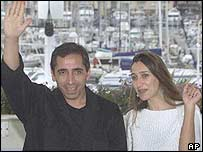 Mohsen Makhmalbaf and actress Niloufar Pazira