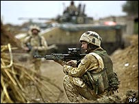 Black Watch troops in Iraq