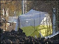Scene of the attack in Nuneaton