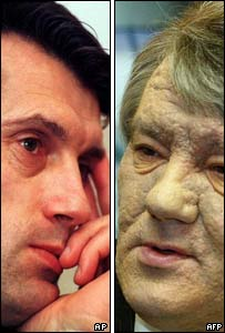 Viktor Yushchenko in 1999 and 2004