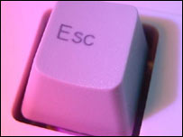 Escape key on computer keyboard, BBC