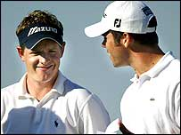 Luke Donald (left) and Paul Casey