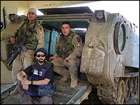 Correspondent Quil Lawrence with US forces in Falluja