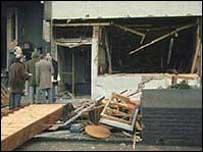 The scene after bombings in Birmingham in 1974
