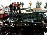 Wreckage from the plane