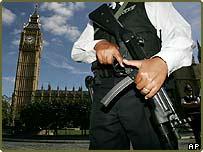 Police officer in London