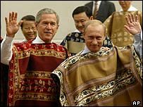 US President George Bush and Russian President Vladimir Putin