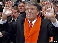 Víctor Yúschenko, a la salida de las urnas