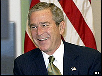 US President George W Bush at the Apec summit in Santiago, Chile