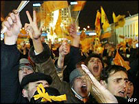 Opposition pro-Yushchenko rally in Kiev, 22 Nov 04