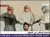 Turkish citizen in Iraq seen with kidnappers in al-Arabiya clip