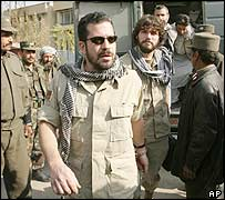 The American defendants arrive at court in Kabul