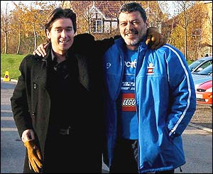 Garforth owner Simon Clifford and Socrates