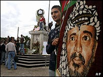 Memorials for Yasser Arafat in Gaza