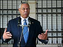 Colin Powell in Jericho, 22 November 2004