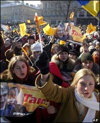 Opposition pro-Yushchenko rally in Kiev, 22 Nov 04