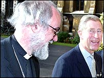 Prince Charles with Dr Rowan Williams