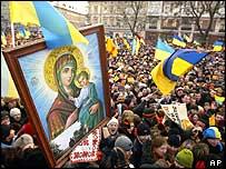 Opposition pro-Yushchenko rally in Lviv, 22 Nov 04