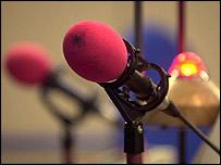 Radio studio microphone
