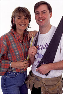 Carol Smillie and Andy Kane