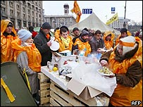 Opposition tent city in central Kiev