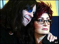 Ozzy Osbourne and wife Sharon at police press conference