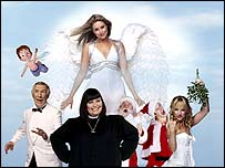 Bruce Forsyth, Dawn French, Kim Medcalf, Dick and Dom and Sarah Manners