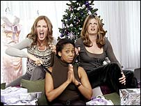 L to R: Trinny Woodall, chat show host Trisha Goddard and Susannah Constantine.