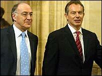 Michael Howard and Tony Blair