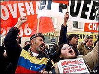 Seguidores de Hugo Ch�vez.