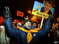 Pro-Yushchenko rally in Kiev, 23 November 2004