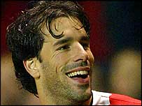 Ruud van Nistelrooy scored the decisive goal for United