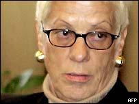 Carla Del Ponte, prosecutor at the UN war crimes tribunal