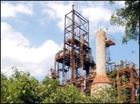 Disused Union Carbide chemical plant in Bhopal