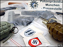 Seized weapons and neo-Nazi material