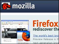 Screengrab from Mozilla homepage, Mozilla Foundation