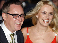 Vic Reeves with wife Nancy Sorrell