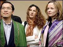Angelito Nayan, Shqipe Habibi and Annetta Flanigan