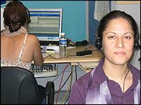 Sylvia, right, in the Tecnovate eSolutions office