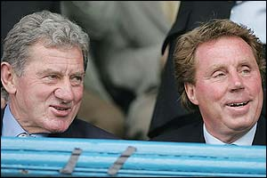 Portsmouth chairman Milan Mandaric and Harry Redknapp