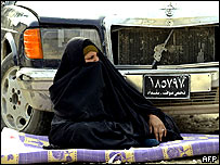Refugee woman from Falluja