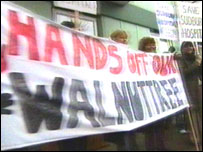 Walnuttree Hospital campaigners
