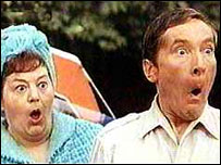 Hattie Jacques and Kenneth Williams