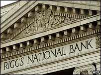 Una de las sucursales del Banco Riggs en Washington.