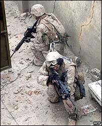 US troops searching Falluja